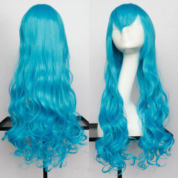 Long Wavy Oblique Bang Synthetic Cosplay Wig