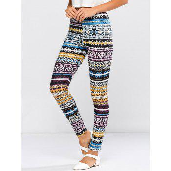 High Waist Tribal Patter Skinny Pants