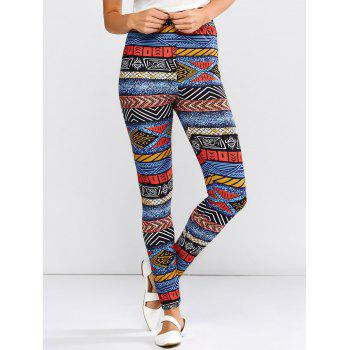 High Waist Multicolor Stripe Leggings