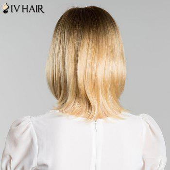 Short Straight Side Bang Mixed Color Siv Human Hair Wig -  COLORMIX