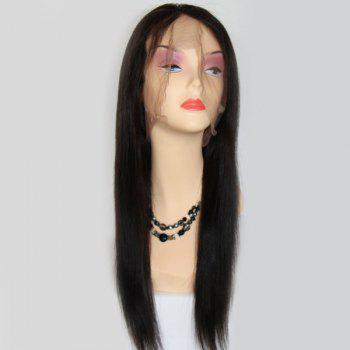 Long Lace Front Side Parting Straight Brazilian Human Hair Wig