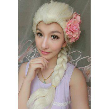Long Braided Mixed Color Cosplay Synthetic Queen Wig