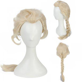 Long Braided Mixed Color Queen Cosplay Synthetic Wig