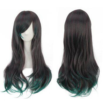 Mixed Color Long Side Bang Tail Adduction Synthetic Cosplay Wig