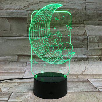 3D Baby Bear 7 Color Touch Changing Night Light