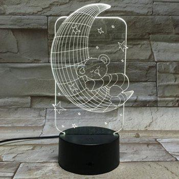 3D Baby Bear 7 Color Touch Changing Night Light - TRANSPARENT