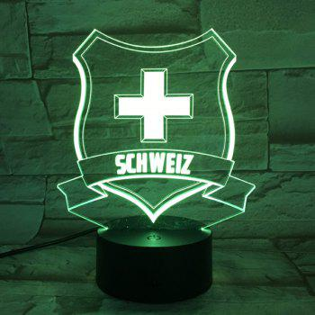 3D Medal 7 Color Touch Changing Night Light - TRANSPARENT