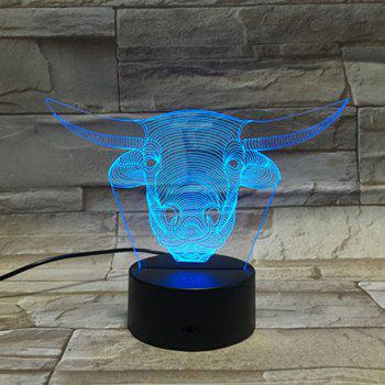 3D Tauren 7 Color Touch Changing Night Light