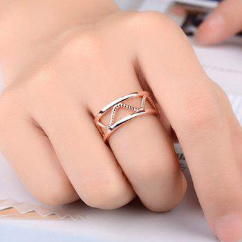 Twist Alloy Hollow Cuff Ring
