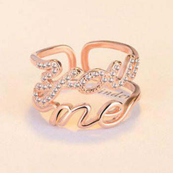 Graphic Hollow You Me Ring - GOLDEN