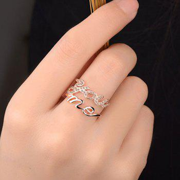 Graphic Hollow You Me Ring