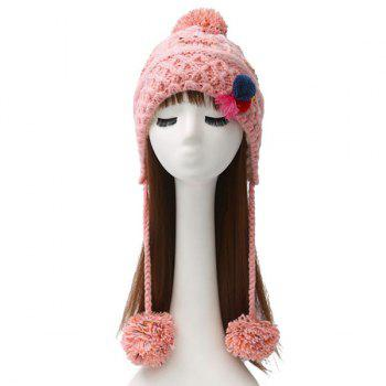 Warm Cirss Cross Knitted Colorful Ball Tassel Beanie