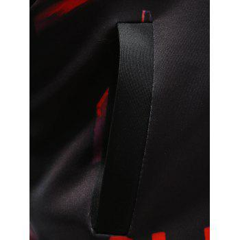 Stand Collar Zippered Halloween Jacket - XL XL