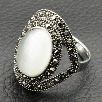 Vintage Faux Opal Oval Ring