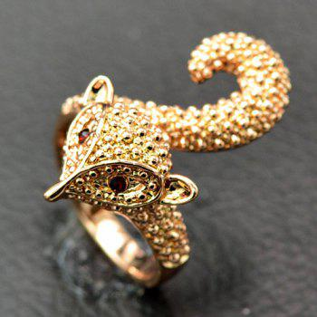 Rhinestone Fox Shaped Ring