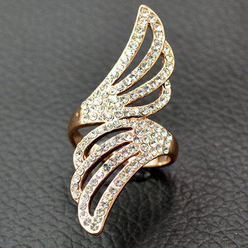 Rhinestone Wings Embellished Ring