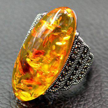 Artificial Gemstone Oval Shaped Ring