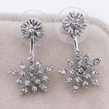 Rhinestone Snowflake Shaped Earrings
