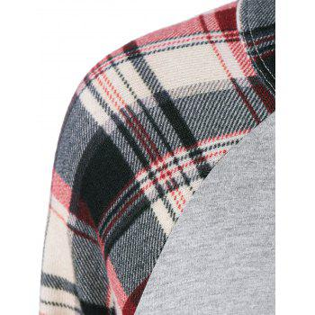 Plaid Trim Raglan Sleeve Tee - XL XL