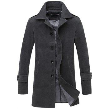 Single Breasted Lengthen Wool Coat