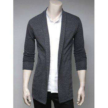 Turndown Collar Slimming Cardigan