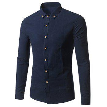 Slim Fit Button Down Long Sleeve Shirt