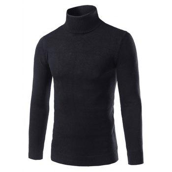 Roll Neck Pullover Sweater in Slim Fit