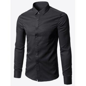 Pocket Plus Size Business Shirt