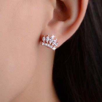 Crown Rhinestone Stud Earrings