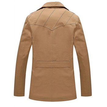 Multi Button Line Pattern Epaulet Design Coat - EARTHY M