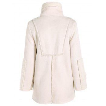 Sherpa Fleece Faux Suede Coat - S S