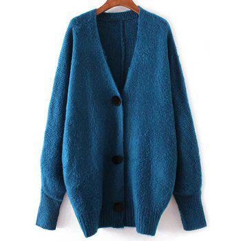 V Neck Button Down Knitted Cardigan