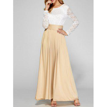 Lace Bodice Casual Gown Maxi Dress