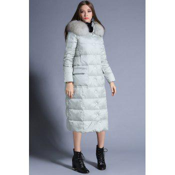 Buy Hooded Long Parka Coat LIGHT GREEN