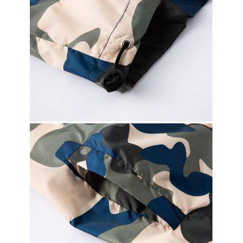 Zipper Up Hooded Camo Lightweight Jacket - ARMY GREEN M