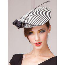 Outdoor Beach Stripe Bowknot Straw Sun Hat