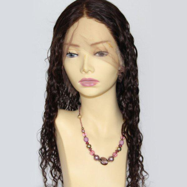 Long Curly Centre Parting Lace Front Indian Human Hair Wig 200641601