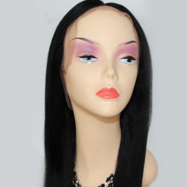 Long Lace Front Centre Parting Straight Indian Human Hair Wig