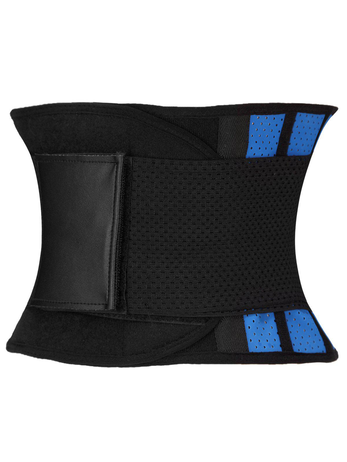 Stretched Waist Slimming Corset - BLUE/BLACK 3XL