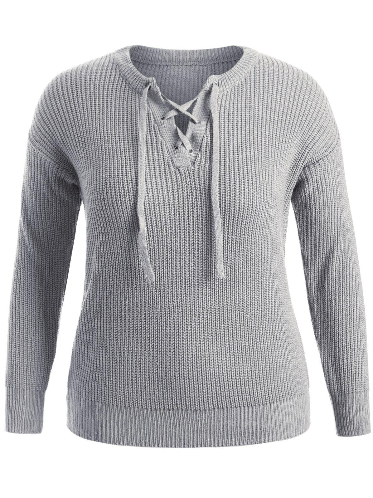 Pullover Plus Size Sweater bear patched plus size pullover sweater