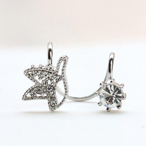 ONE PIECE Rhinestone Adorn Ear Cuff one piece stylish women s rhinestone cross ear cuff