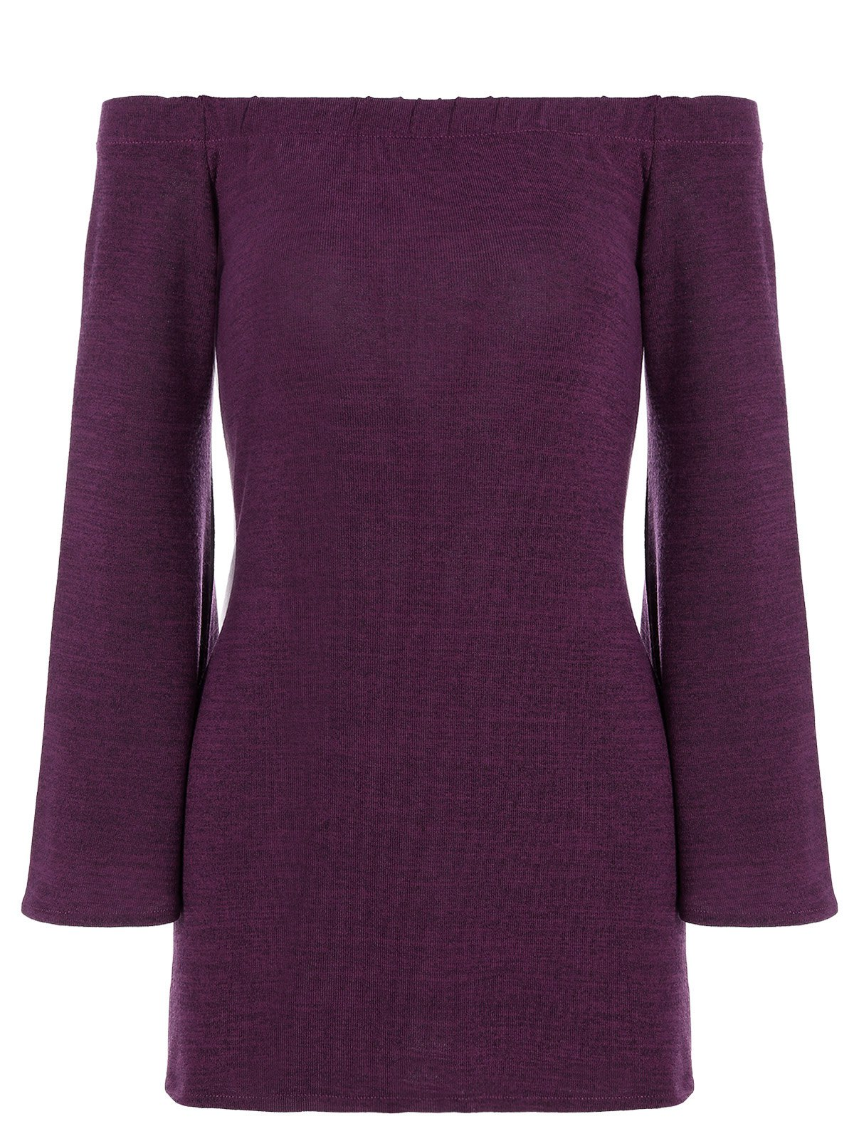 Off the Shoulder Long Sleeves T-ShirtWomen<br><br><br>Size: XL<br>Color: FUCHSIA ROSE