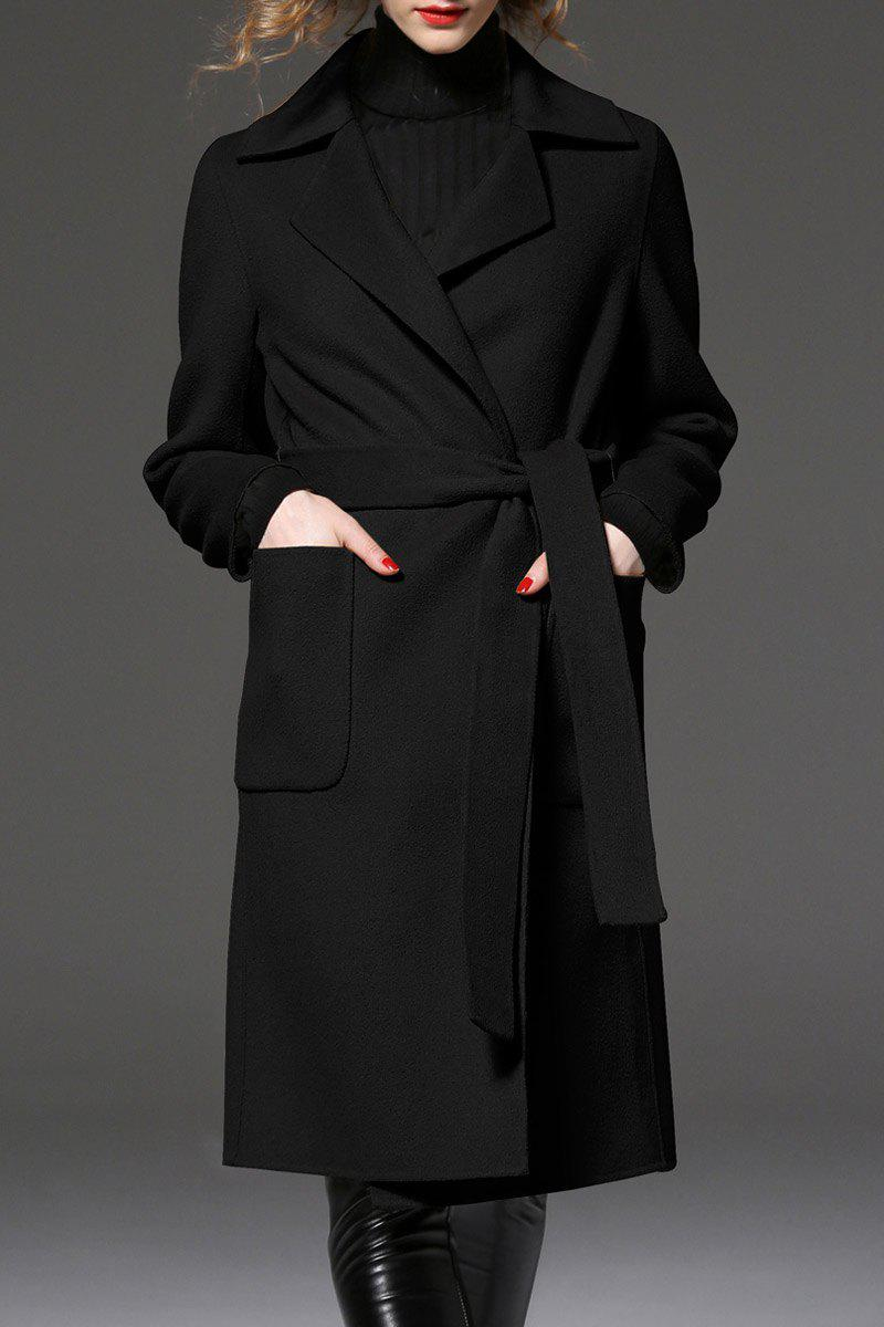 Slit Back Long Coat от Dresslily.com INT