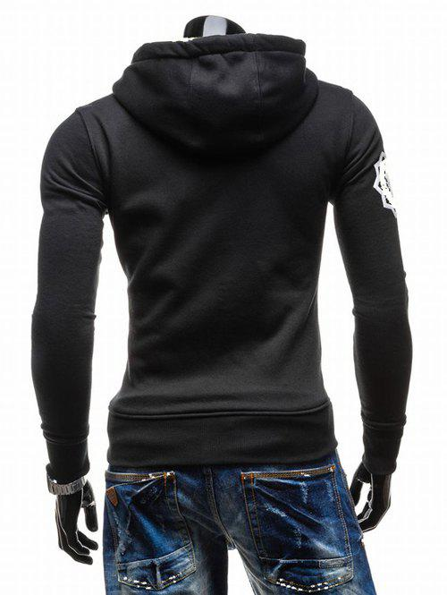 Hooded Zip-Up imprimé graphique Emboss Hoodie - Noir XL
