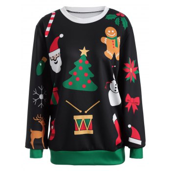Pullover Christmas Graphic Print Sweatshirt