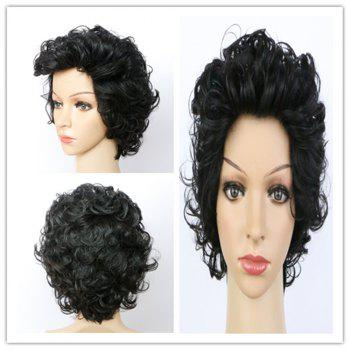 Handsome Women's Ultrashort Curly Natural Black Synthetic Hair Wig