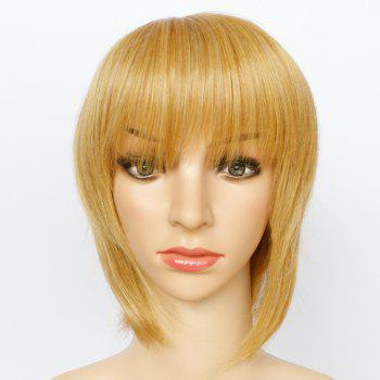 Sparkling Women's Short Mixed Color Side Bang Synthetic Hair Wig - COLORMIX
