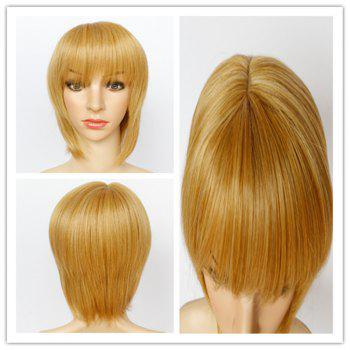 Sparkling Women's Short Mixed Color Side Bang Synthetic Hair Wig