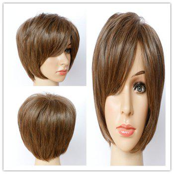 Stylish Women's Short Shaggy Mixed Color Side Bang Synthetic Hair Wig