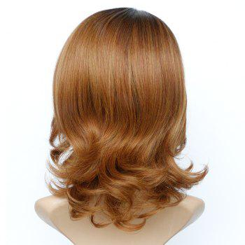 Graceful Women's Medium Fluffy Mixed Color Wavy Side Parting Synthetic Hair Wig - COLORMIX